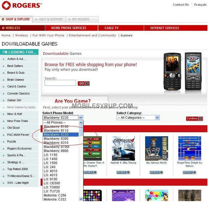 Got Game? Rogers BlackBerry Kickstart 8220 does!