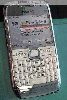 white Nokia E71