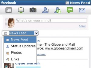 Facebook 1.7 for BlackBerry