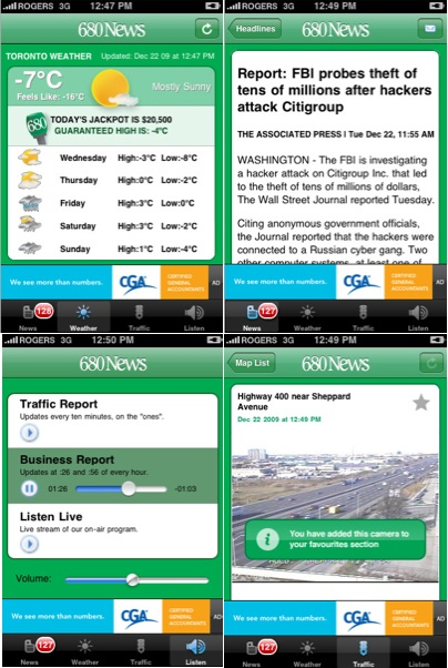680News gets an iPhone app that streams live video traffic ...
