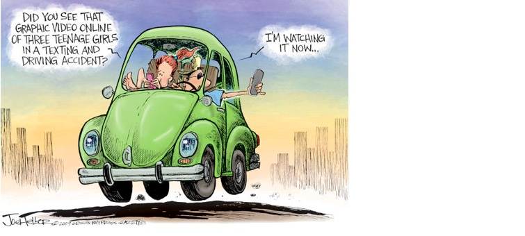 Texting While Driving >> Texting and Driving: Is this cartoon still reality in Canada?