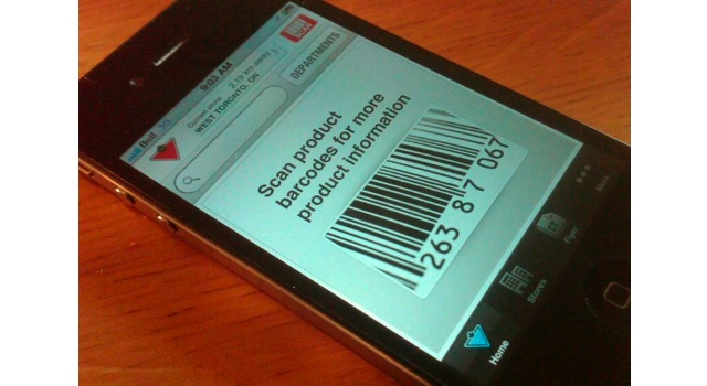 Canadian Tire mobile app updated to scan barcodes