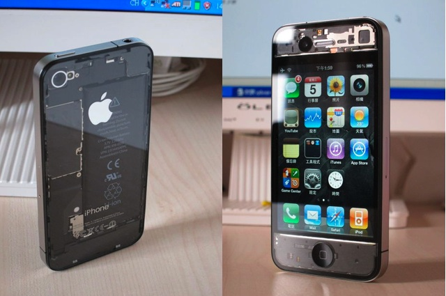 see through iphone this transparent iphone 4 looks amazing 12935