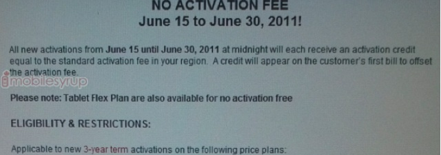 Rogers waive activation fee