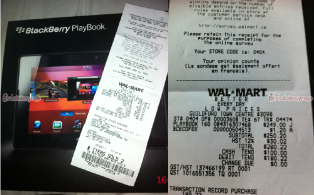 newest 245d9 093d4 Update: BlackBerry PlayBook reduced to $249 at Walmart Canada, $299 ...
