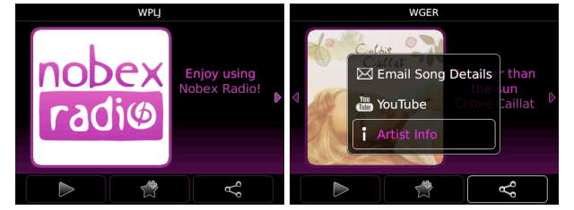 Nobex Radio Premium now free in the BlackBerry App World   MobileSyrup