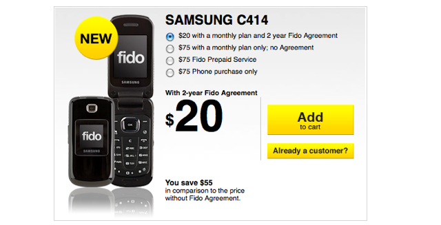 Fido Launches The Basic Samsung C414 Mobilesyrup