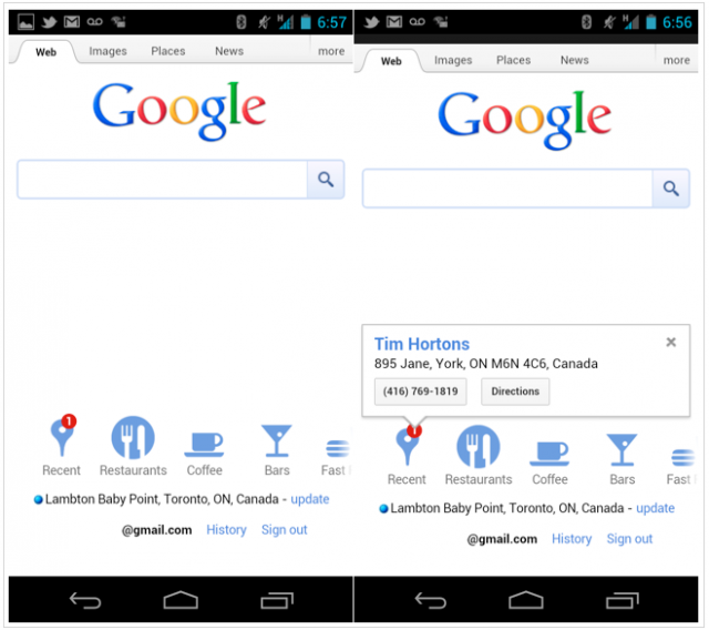 """Google Adds """"Recent"""" Icon To Its Mobile Site, Brings"""