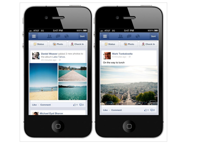Facebook Updating Its Mobile Timeline To Take Advantage Of