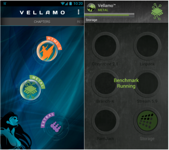 Qualcomm Vellamo benchmark updated with new interface, better HTML5