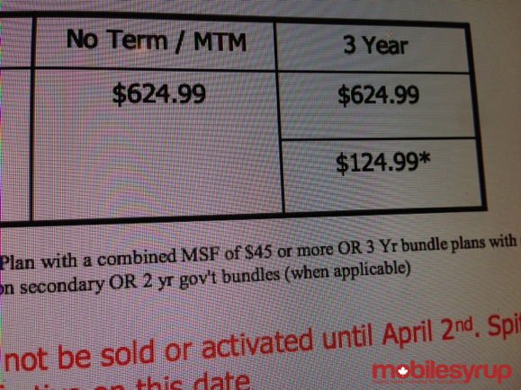 rogers-xperia-zl-pricing