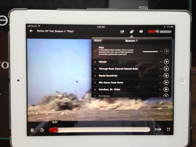 Netflix updates iPad app with new TV show selector interface