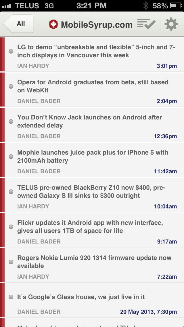 NewsBlur for iOS redesigned ahead of Google Reader shutdown