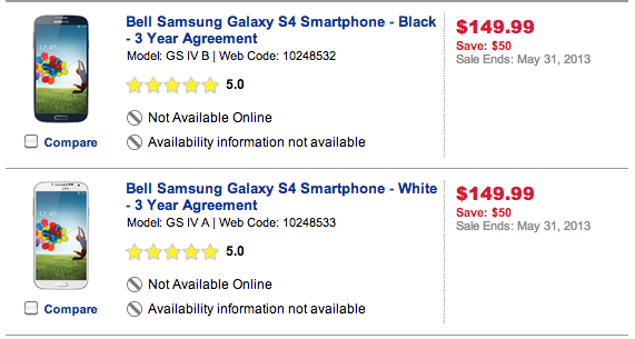 Galaxy S4 receives its first price drop today, now $149.99 on a 3-year