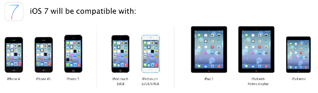 iOS 7 coming this fall to iPhone 4, iPad 2 users and above