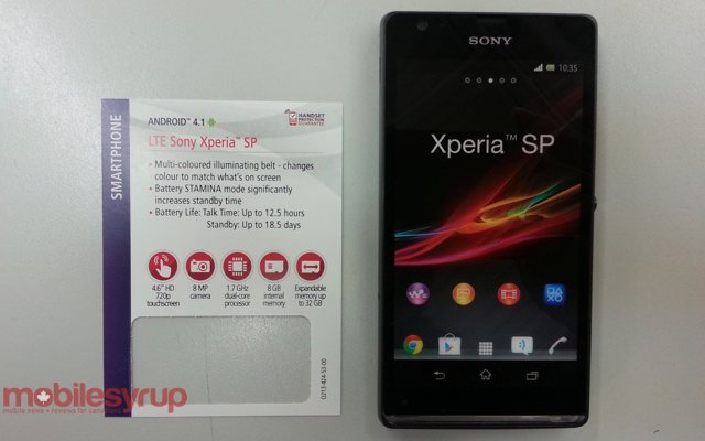 Sony Xperia SP coming to Rogers