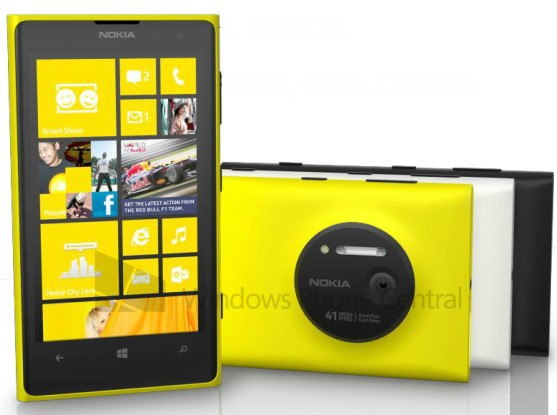 Nokia Lumia 1020 name confirmed, will sport 2GB of RAM and be available in yellow, white and black