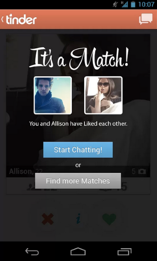 Tinder mobile dating