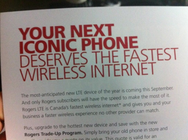 """Rogers: """"The most-anticipated new LTE device of the year is coming this September"""""""