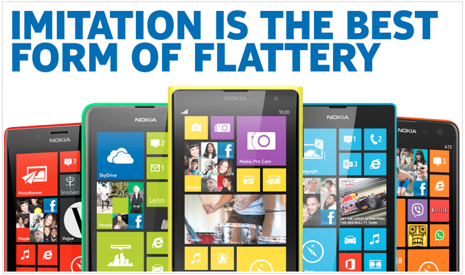 "Nokia to Apple: ""Imitation is the best form of flattery"""