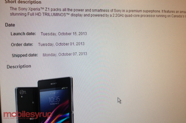 Bell Sony Xperia Z1 and Xperia Z Ultra launching October ...
