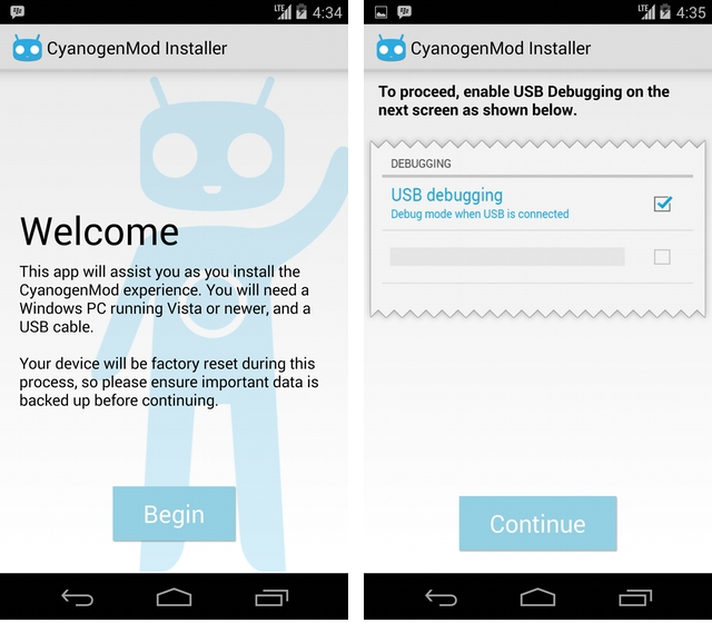 CyanogenMOD releases Installer companion app to help newbs install
