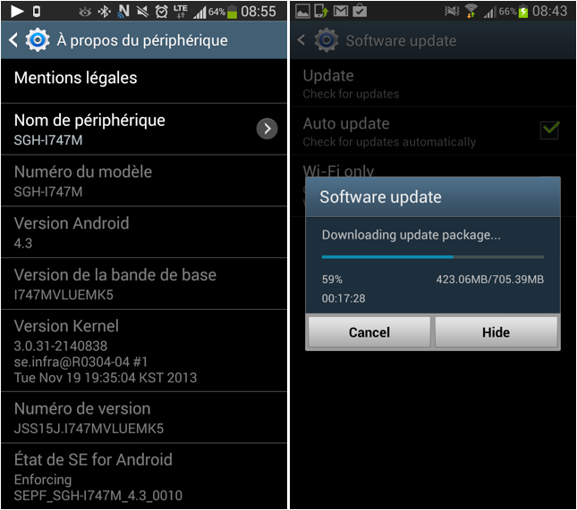Samsung Galaxy S3 and Note 2 owners now receiving OS 4.3 Jelly Bean upgrade in Canada