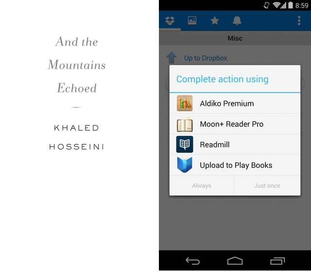 Google Play Books for Android now lets you upload PDFs and