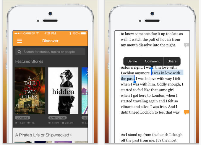 Kết quả hình ảnh cho Wattpad for iOS