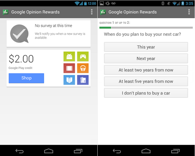 Google Opinion Rewards for Android now available to Canadians