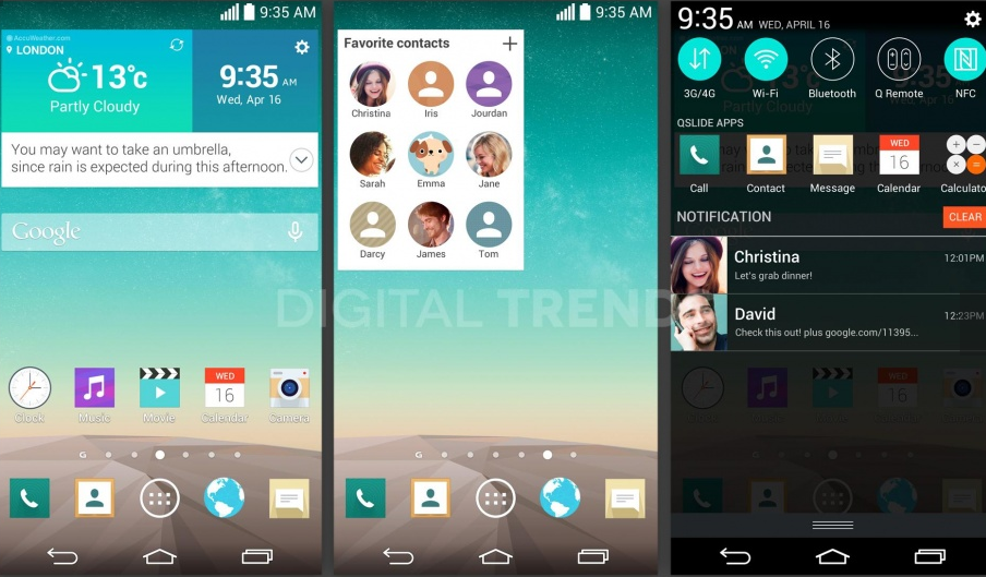 LG G3 home screen leak hints at Concierge service, attractive flat design overhaul