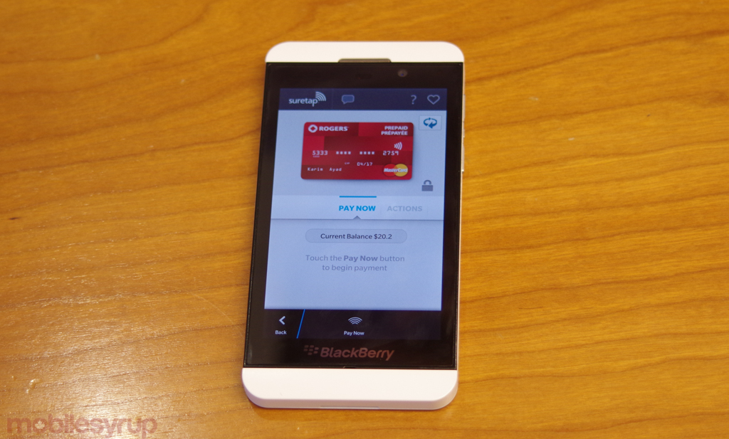 Hands-on with Rogers suretap wallet mobile payment solution
