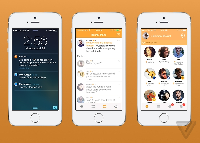 Swarm app by Foursquare
