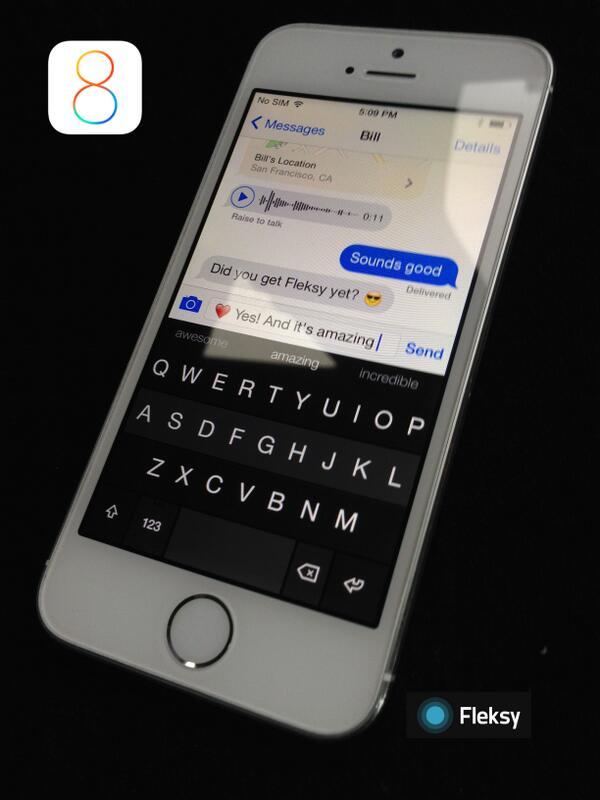1425609cf20 Update: Swype, SwiftKey, and Fleksy launching iOS 8 keyboards ...