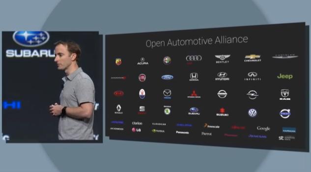 Google I/O open automotive alliance