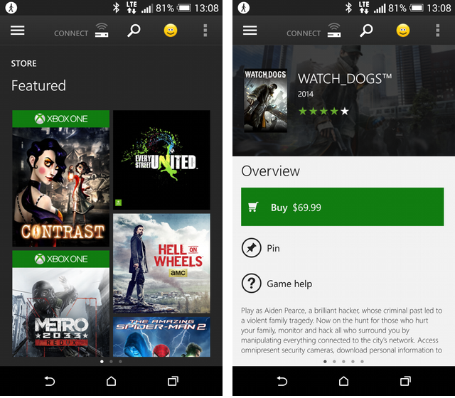 Latest xbox one preview update brings miracast and live tv for Mirror xbox one to android