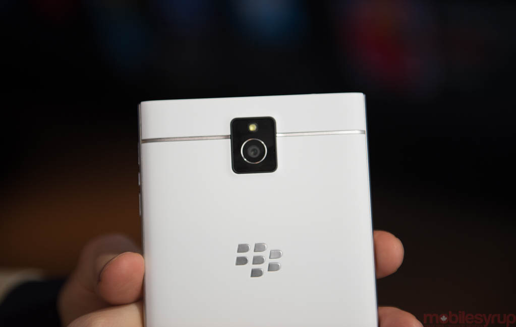 The white BlackBerry Passport in photos