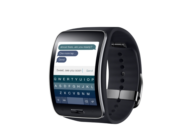 Fleksy keyboard for the Samsung Gear S smartwatch