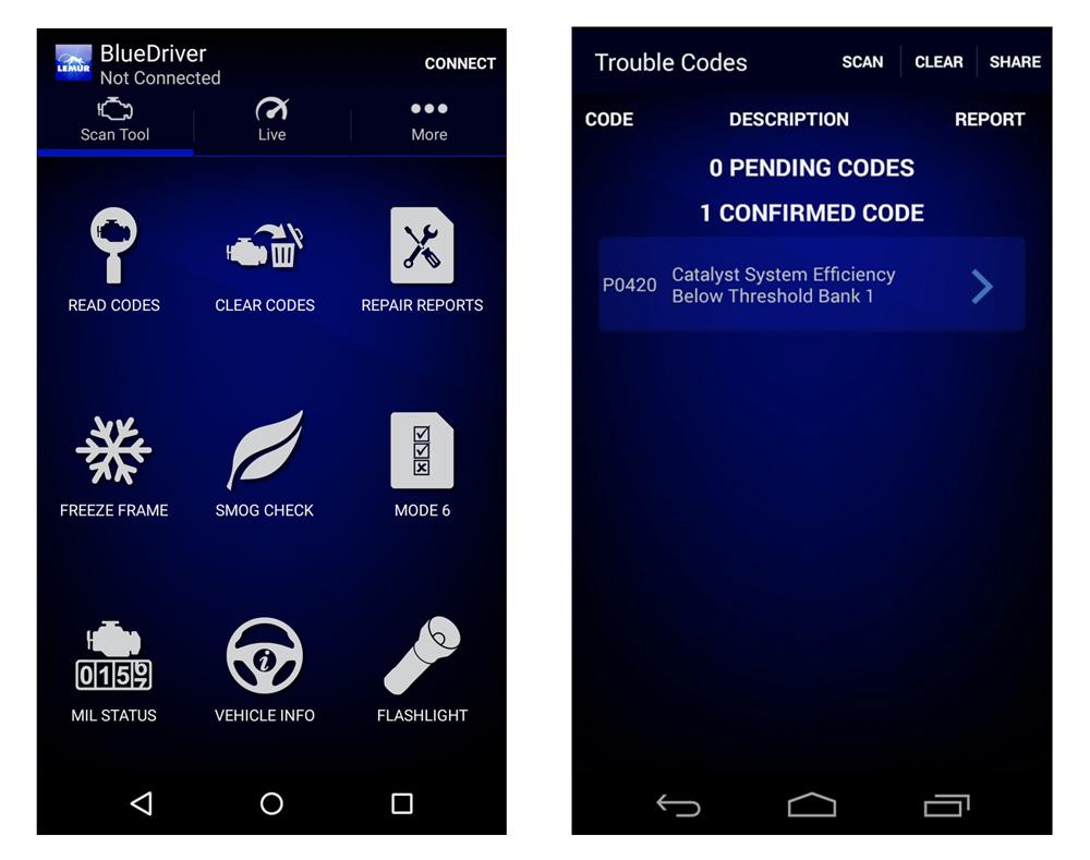 BlueDriver app screens_1