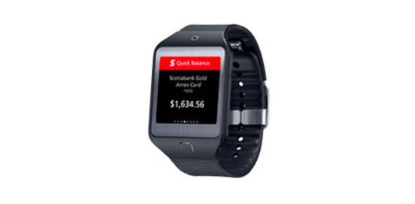 Scotiabank launches Quick Balance smartwatch app for Gear S, Gear 2