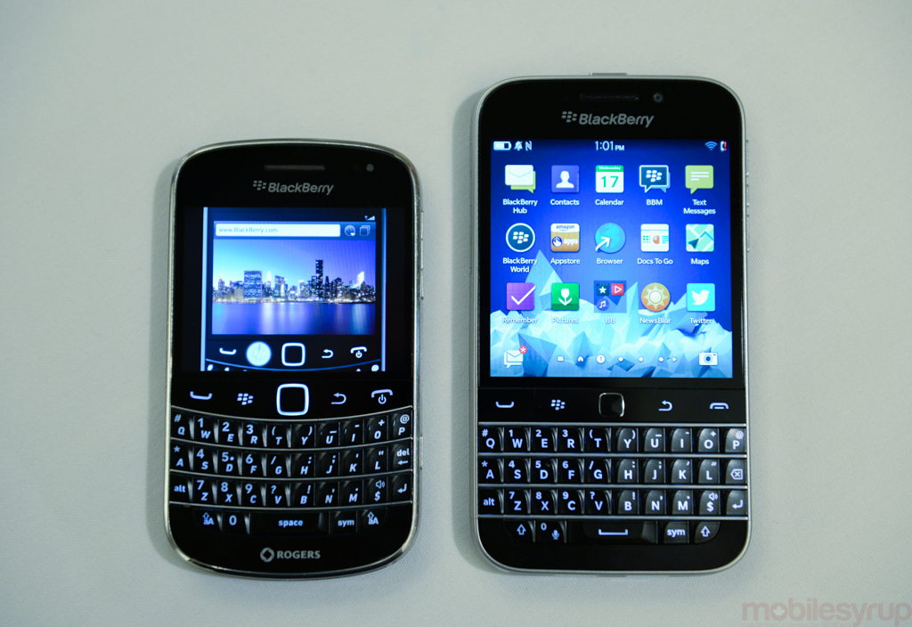 Blackberry classic vs passport vs bold 9900 in photos mobilesyrup blackberryclassiccomparison 5061 reheart Images