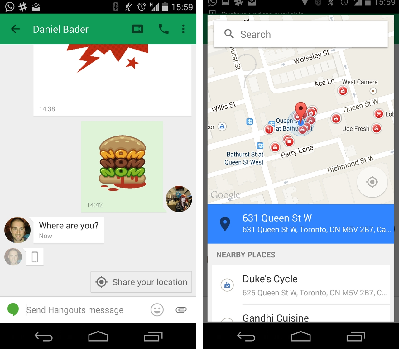 Google adds 'last seen' timestamp to Hangouts for Android