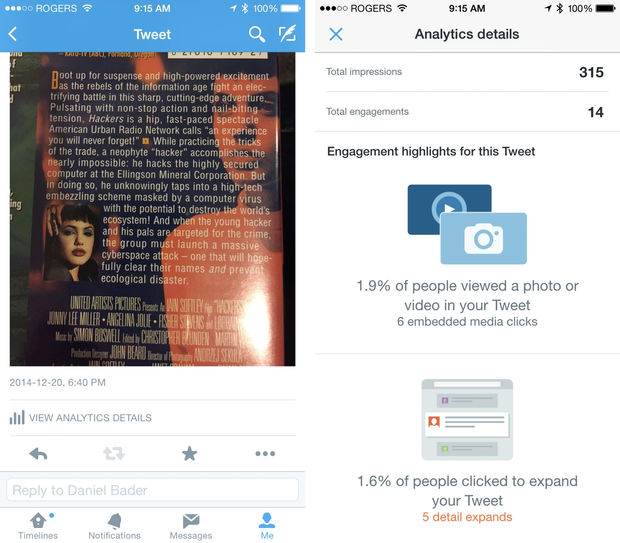 how to get twitter analytics on mobile