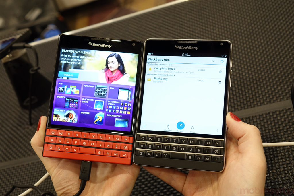 Hands-on with the red BlackBerry Passport (and a new rounded AT&T model that's actually nicer than ours)