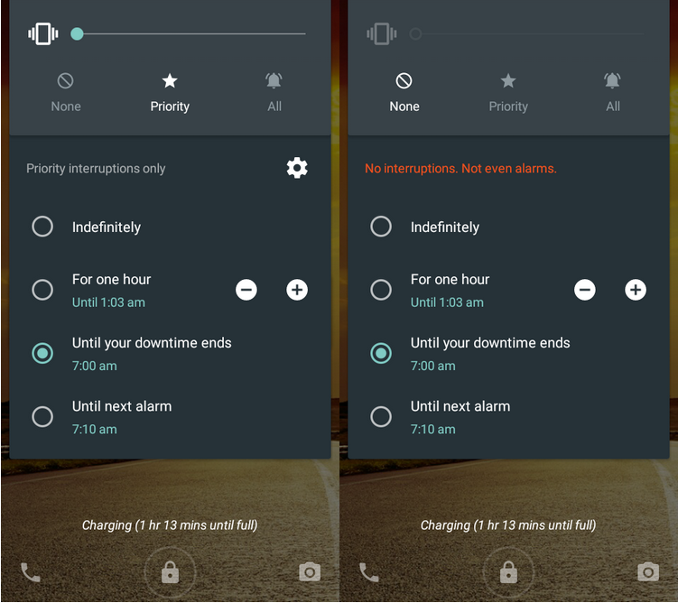 android silent mode