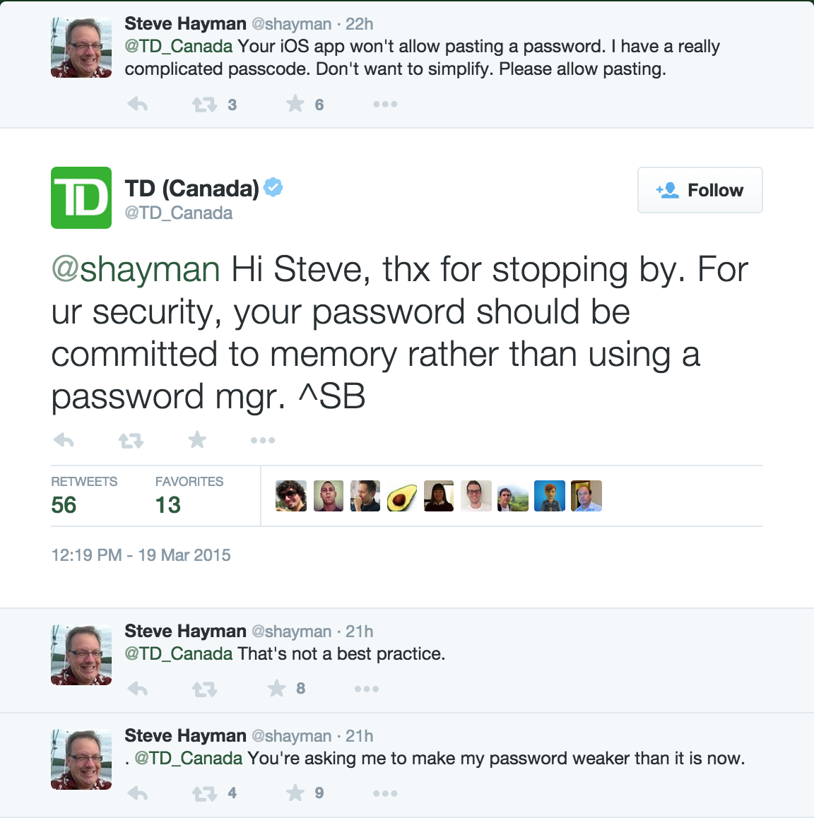 Td Canada Trust Should Feel Bad About Its Bad Security Advice U