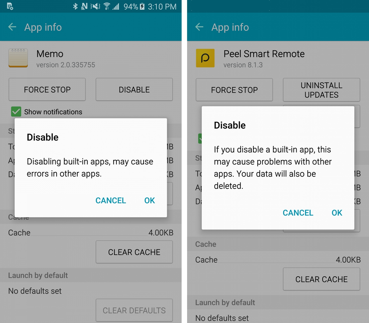 Sorry samsung wont let you remove most apps from the galaxy s6 samsunggs6disable 1 ccuart Choice Image