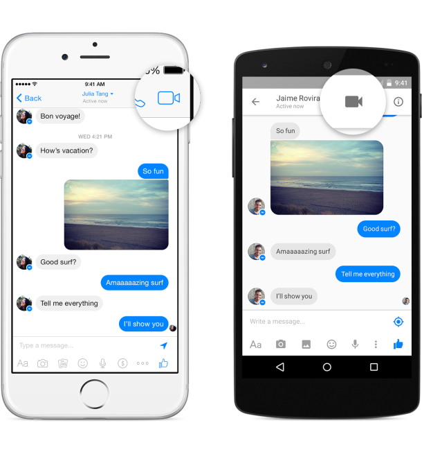Facebook Messenger Video Calling