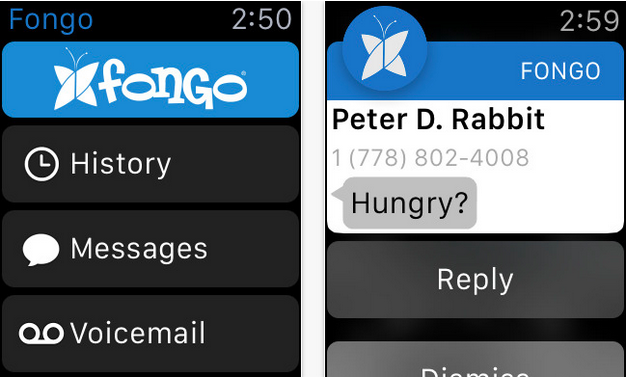 Fongo iOS app brings Apple Watch support | MobileSyrup