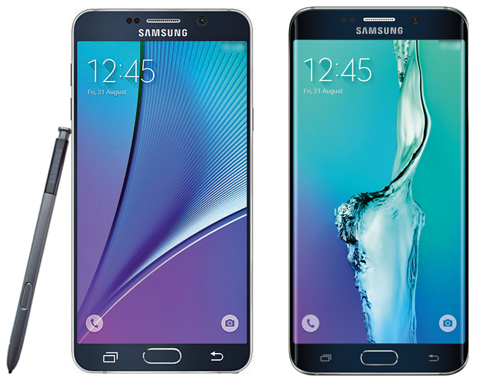 Note 5 and edge+ press render